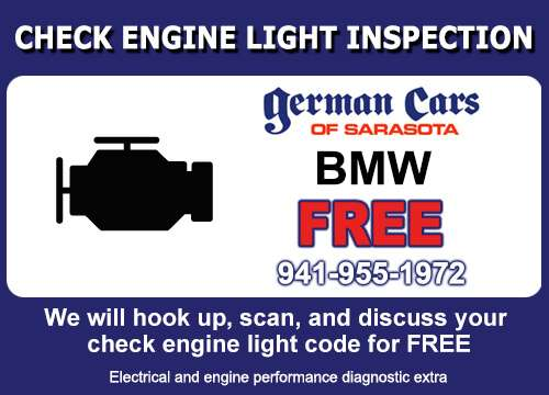 BMW Check Engine Light Service Special a German Cars of Sarasota